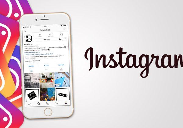 Formation Instagram avec La Boite B2P