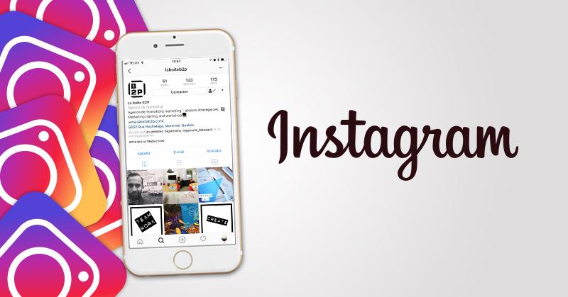 Formation Instagram, Formation Instagram pour une agence publicitaire des îles de la Madeleine, La Boite B2P